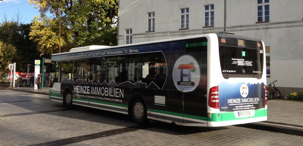 Heinze Immobilien: Nun auch mit Bus