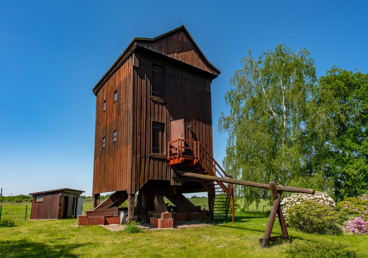 Besondere Immobilie: Bockwindmühle in Schönerlinde zu verkaufen